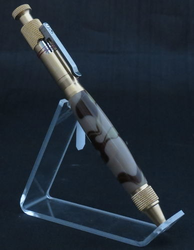 Brass and Camo Bolt Action Pen