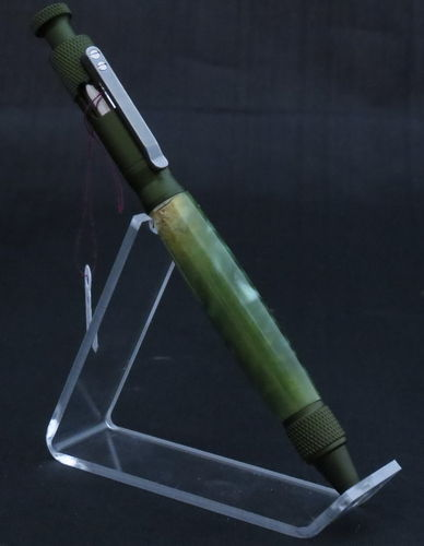 Green and Green Acrylic Bolt Action Pen