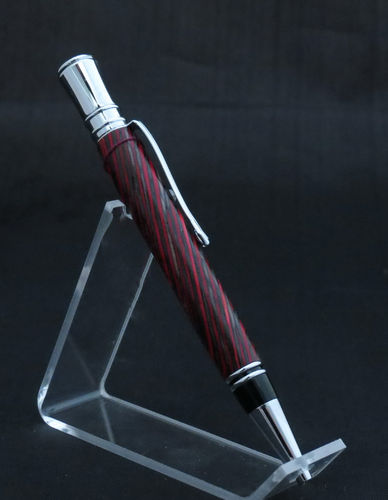 Chrome and Dark Red Pen