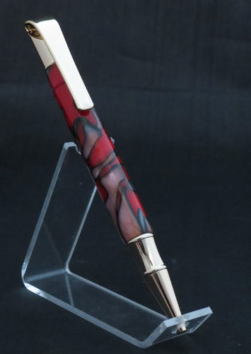 Gold and Red/Black Twist Pen